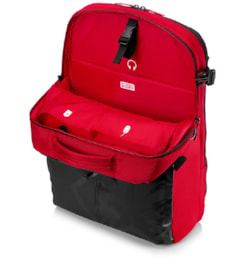 """HP Carrying Case (Backpack) for HP 43.9 cm (17.3"""") Notebook - Black, Red"""