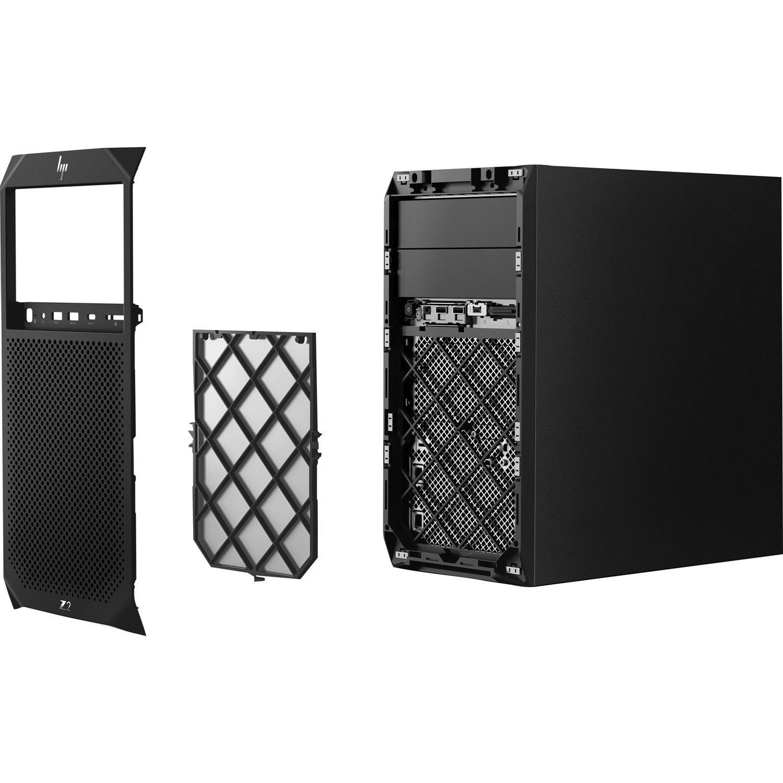 HP Z2 G4 Workstation - 1 x Intel Core i7 (8th Gen) i7-8700 Hexa-core (6 Core) 3.20 GHz - 16 GB DDR4 SDRAM - 512 GB SSDNVIDIA Quadro P1000 4 GB Graphics - Windows 10 Pro 64-bit - Mini-tower - Black