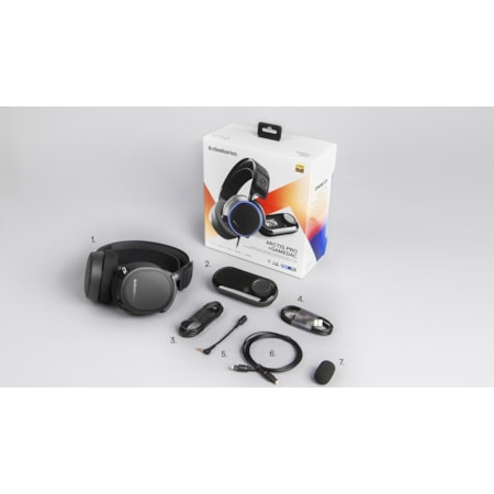 SteelSeries Arctis Pro Wired 40 mm Stereo Headset - Over-the-head - Circumaural - Black