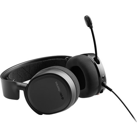 SteelSeries Arctis Wired/Wireless Bluetooth 40 mm Stereo Headset - Over-the-head - Circumaural - Black