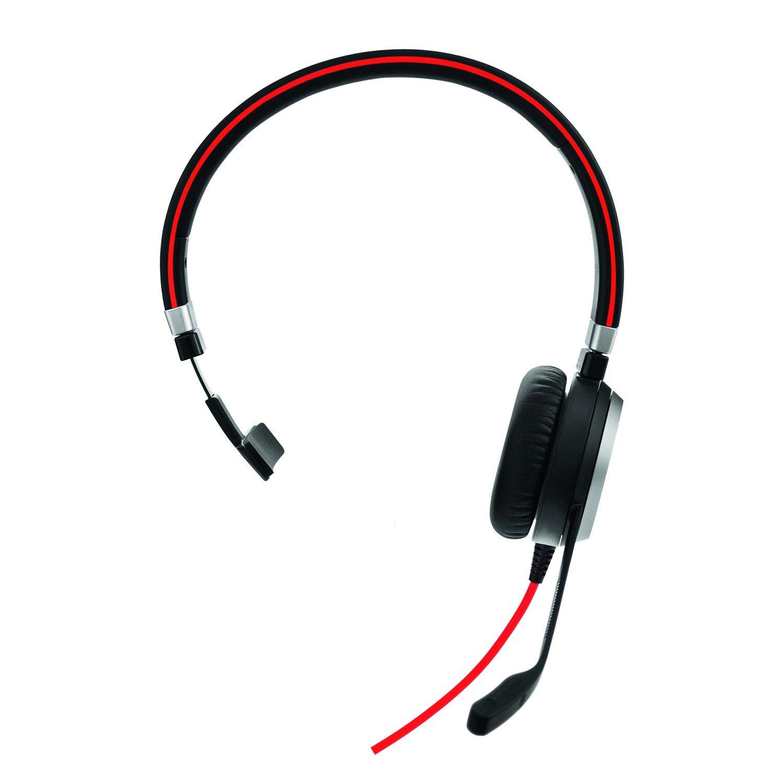 Jabra EVOLVE 40 Wired Mono Headset - Over-the-head - Supra-aural
