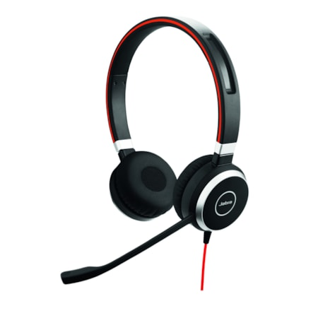 Jabra EVOLVE 40 Wired Stereo Headset - Over-the-head - Supra-aural