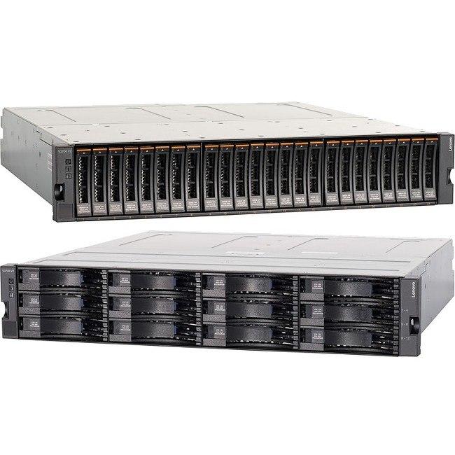 Lenovo V3700 V2 24 x Total Bays SAN Storage System - 2U - Rack-mountable