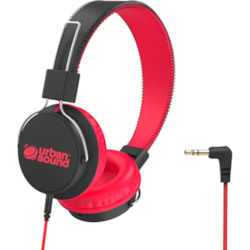 Verbatim Urban Sound Wired Over-the-head Stereo Headphone - Black, Red