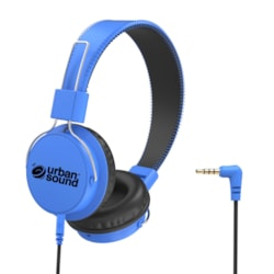 Verbatim Urban Sound Wired Stereo Headphone - Over-the-head - Circumaural - Blue, Black