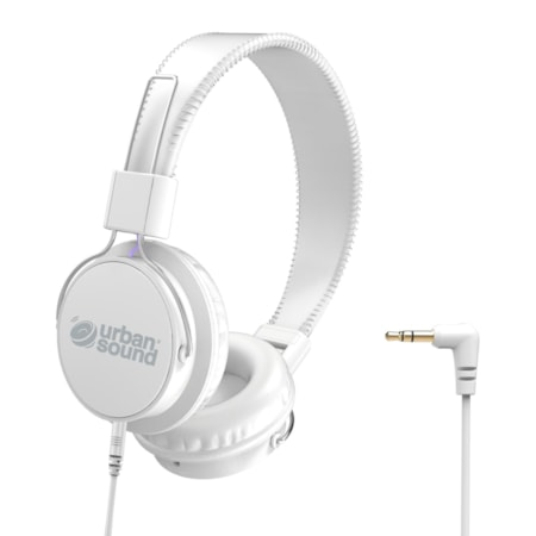 Verbatim Urban Sound Wired Over-the-head Stereo Headphone - White