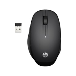 HP Mouse - Bluetooth/Radio Frequency - USB - Black