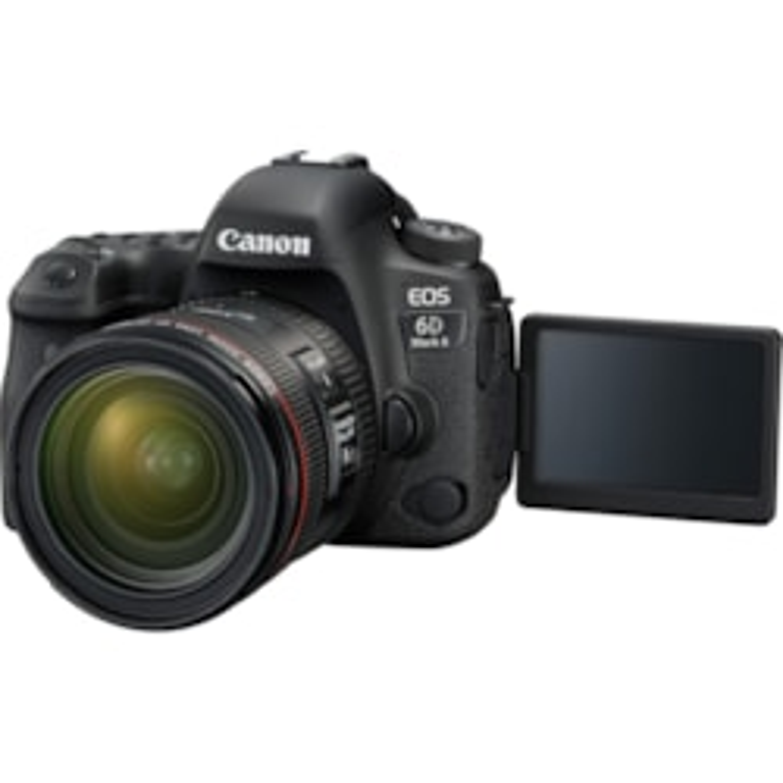 Canon EOS 6D Mark II 26.2 Megapixel Digital SLR Camera with Lens - 24 mm - 70 mm