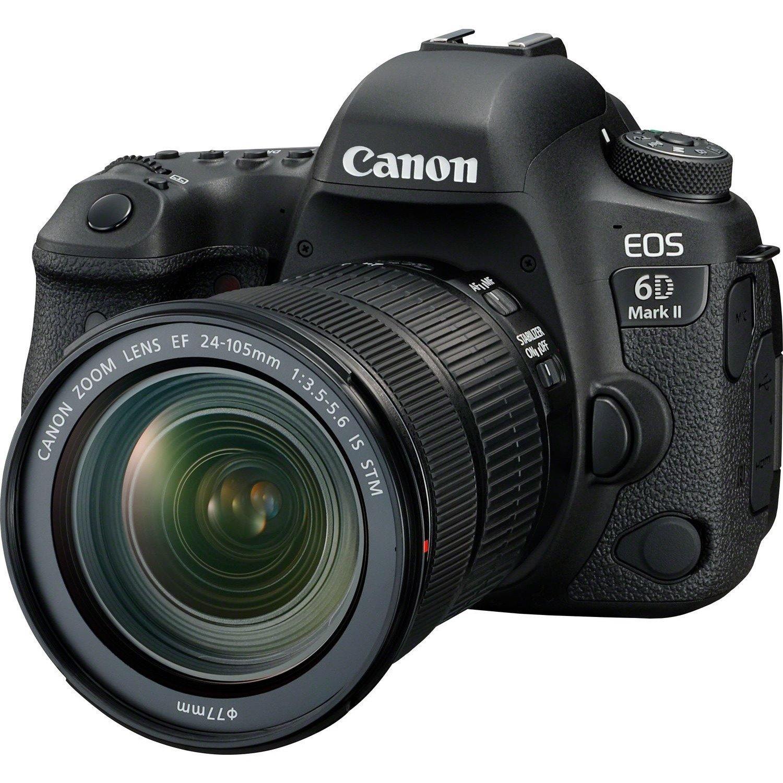 Canon EOS 6D Mark II 26.2 Megapixel Digital SLR Camera with Lens - 24 mm - 105 mm