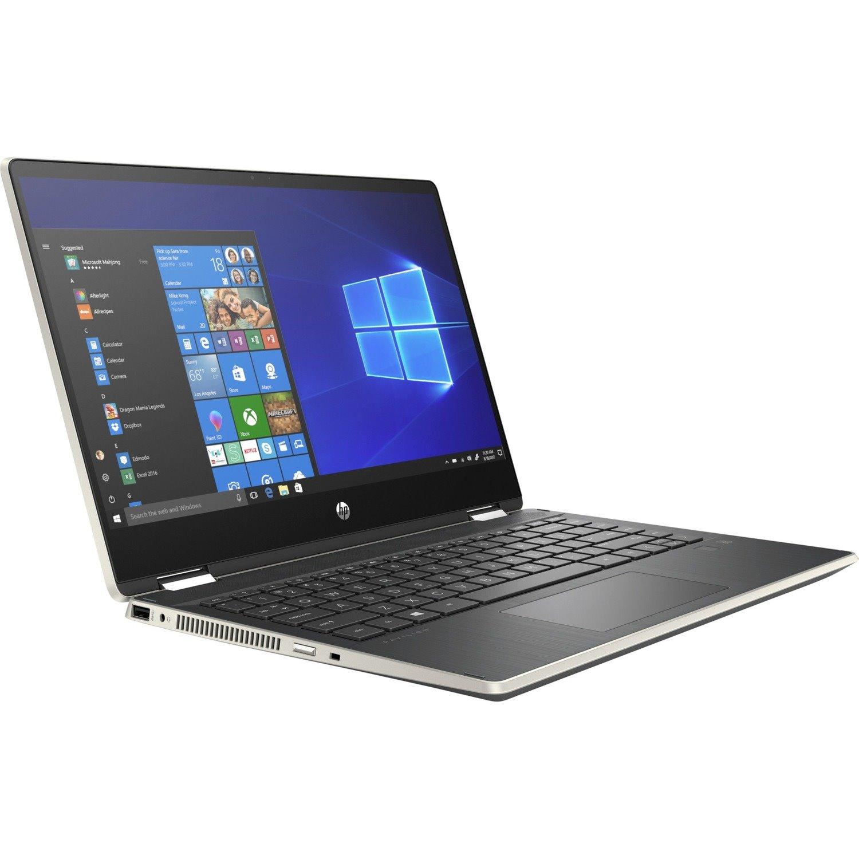 """HP Pavilion x360 14-dh0000 14-dh0029tu 35.6 cm (14"""") Touchscreen 2 in 1 Notebook - Core i5 i5-8265U - 8 GB RAM - 128 GB SSD - Pale Gold"""