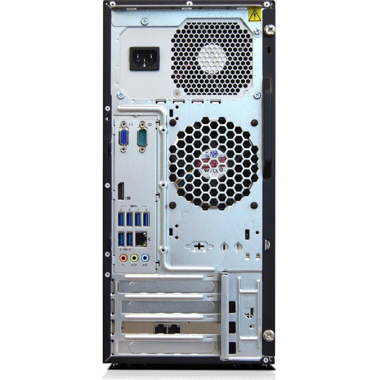 Lenovo ThinkServer TS150 70UB000UAZ 4U Tower Server - 1 x Intel Xeon E3-1245 v6 Quad-core (4 Core) 3.70 GHz - 8 GB Installed DDR4 SDRAM - Serial ATA/600 Controller - 0, 1, 5, 10 RAID Levels - 1 x 250 W