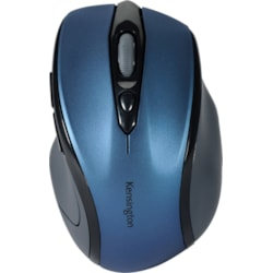 Kensington Pro Fit Mouse - Radio Frequency - USB - Optical - 3 Button(s) - Sapphire, Blue