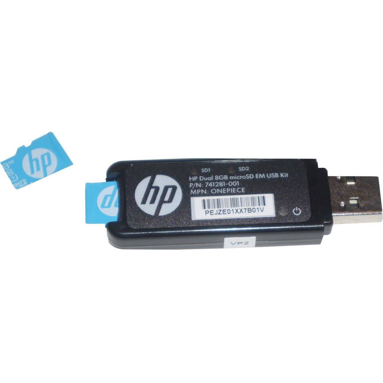 HPE Flash Media Kit - Dual 8GB microSD Enterprise Midline USB Kit - Media Only