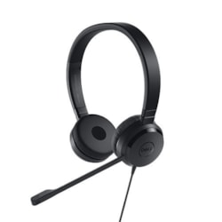 Dell UC350 Wired 28 mm Stereo Headset - Over-the-head - Supra-aural - Black