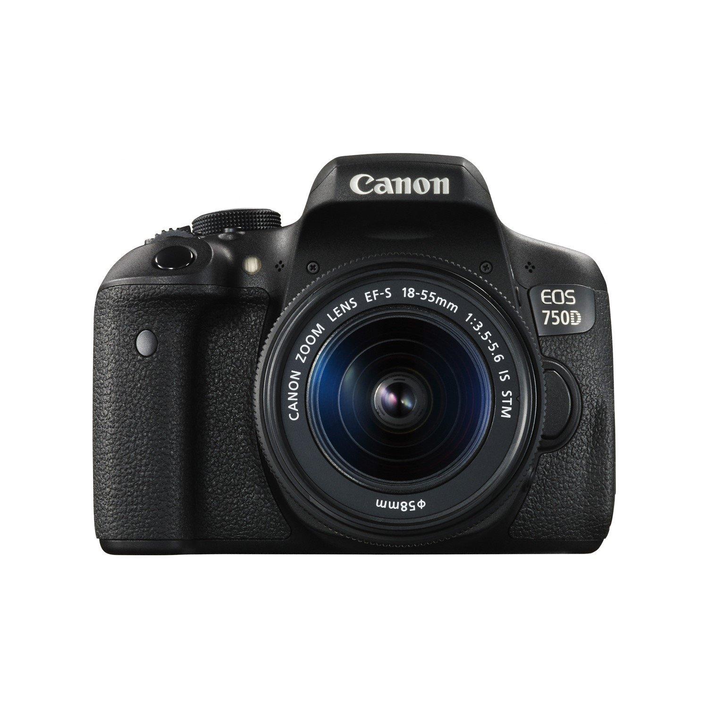 Canon EOS 750D 24.2 Megapixel Digital SLR Camera with Lens - 18 mm - 55 mm (Lens 1), 55 mm - 250 mm (Lens 2)