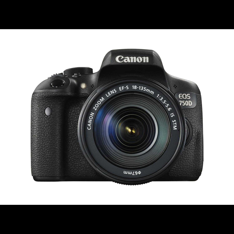 Canon EOS 750D 24.2 Megapixel Digital SLR Camera with Lens - 18 mm - 135 mm - Black