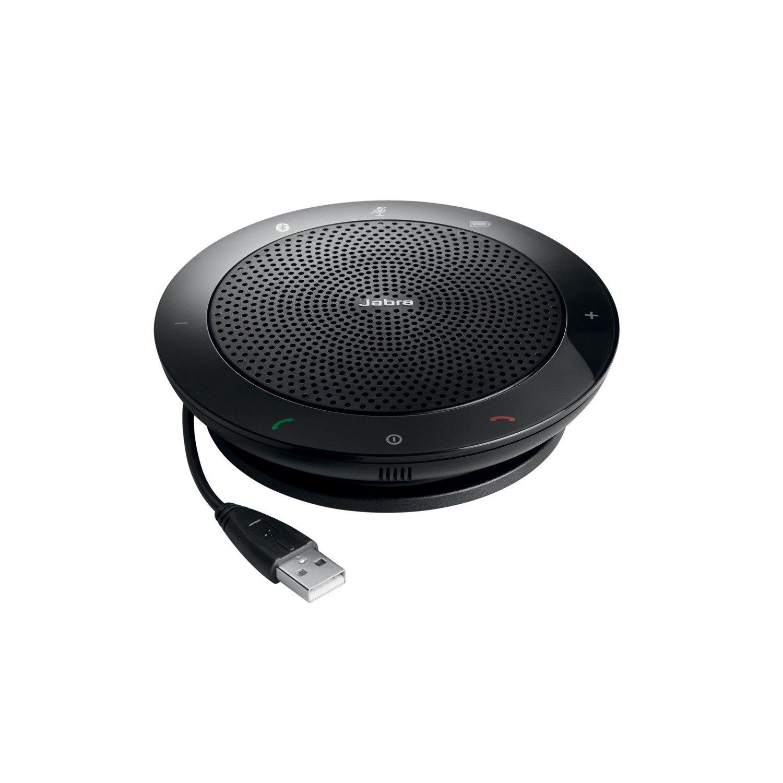 Jabra Speak 510+ MS Speaker System - Wireless Speaker(s) - Portable - Battery Rechargeable