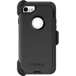 OtterBox Defender Carrying Case (Holster) Apple iPhone 8, iPhone 7 Smartphone - Black