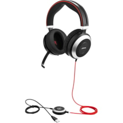 Jabra EVOLVE 80 MS Wired Over-the-head Stereo Headset - Black