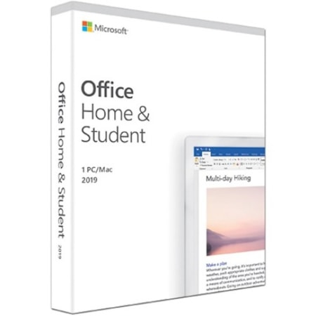 Microsoft Office 2019 Home & Student for Windows 10, Mac OS - Box Pack - 1 PC - Medialess