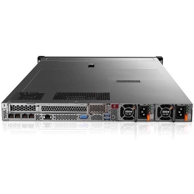 Lenovo ThinkSystem SR630 7X02100GAU 1U Rack Server - 1 x Intel Xeon Silver 4114 Deca-core (10 Core) 2.20 GHz - 16 GB Installed TruDDR4 - 12Gb/s SAS, Serial ATA/600 Controller - 0, 1, 5, 6, 10, 50, 60, JBOD RAID Levels - 1 x 750 W