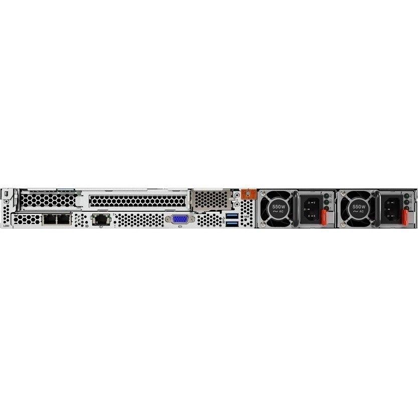 Lenovo ThinkSystem SR630 7X02100LAU 1U Rack Server - 2 x Intel Xeon Silver 4110 Octa-core (8 Core) 2.10 GHz - 64 GB Installed TruDDR4 - 12Gb/s SAS, Serial ATA/600 Controller - 0, 1, 5, 6, 10, 50, 60, JBOD RAID Levels - 2 x 750 W