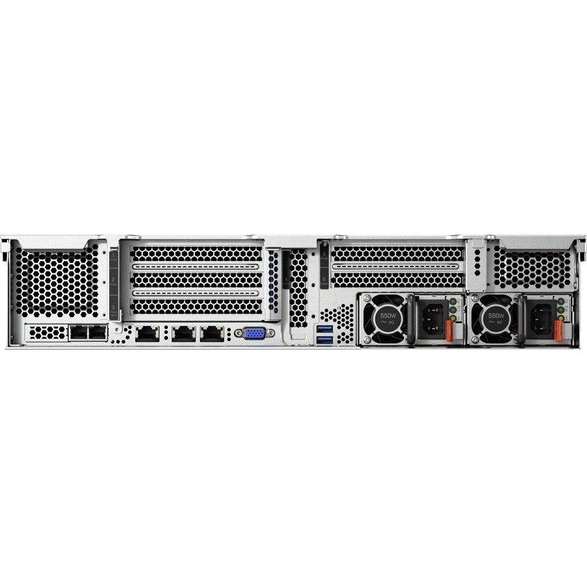 Lenovo ThinkSystem SR550 7X041005AU 2U Rack Server - 1 x Intel Xeon Silver 4110 Octa-core (8 Core) 2.10 GHz - 16 GB Installed TruDDR4 - 12Gb/s SAS, Serial ATA/600 Controller - 0, 1, 5, 10, 50, JBOD RAID Levels - 1 x 750 W