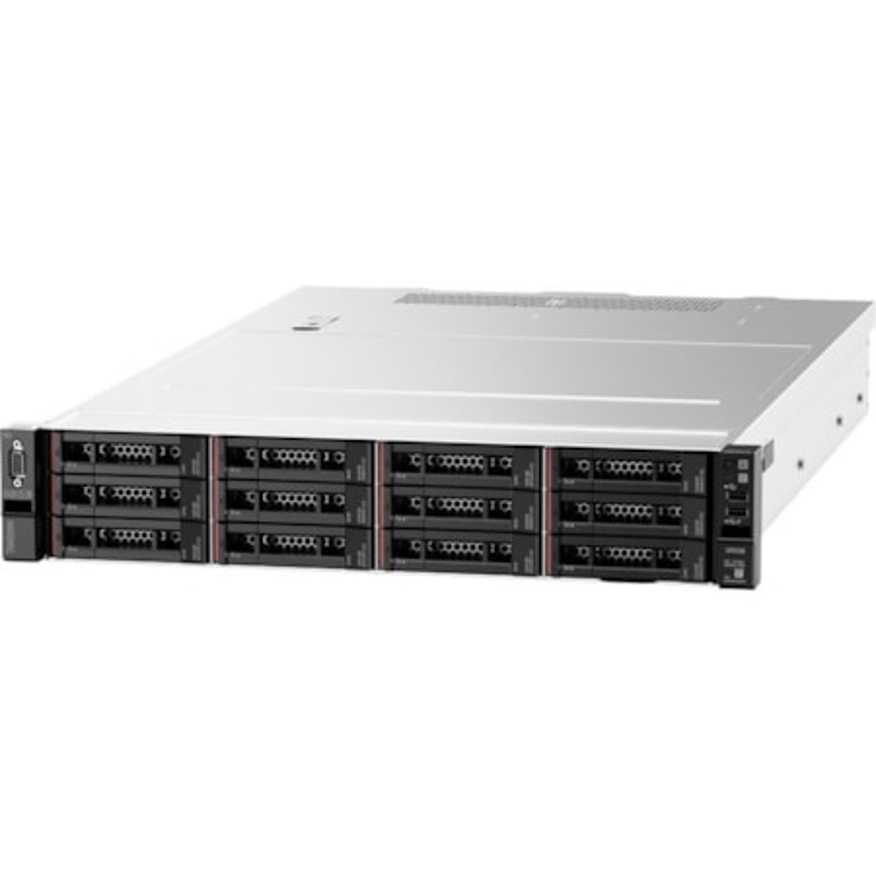 Lenovo ThinkSystem SR550 7X04A03RAU 2U Rack Server - 1 x Xeon Silver 4114 - 16 GB RAM HDD SSD - 12Gb/s SAS, Serial ATA/600 Controller