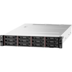 Lenovo ThinkSystem SR550 7X04A07ZAU 2U Rack Server - 1 x Intel Xeon Silver 4208 2.10 GHz - 16 GB RAM HDD SSD - Serial ATA/600, 12Gb/s SAS Controller