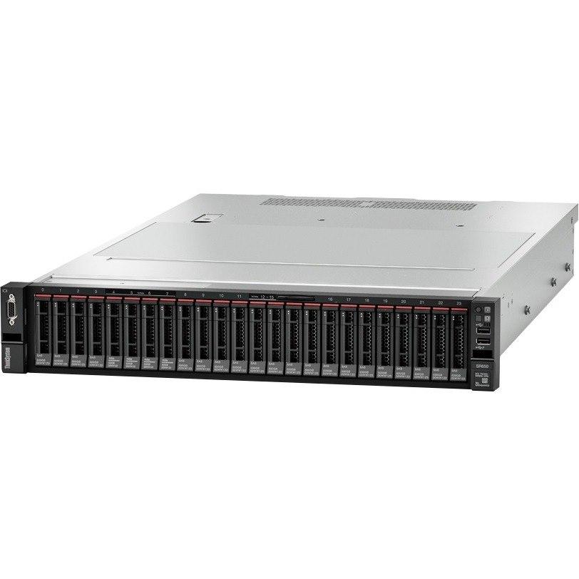 Lenovo ThinkSystem SR650 7X061002AU 2U Rack Server - 1 x Xeon Silver 4108 - 16 GB RAM HDD SSD - 12Gb/s SAS, Serial ATA/600 Controller