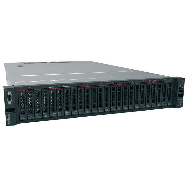 Lenovo ThinkSystem SR650 7X061005AU 2U Rack Server - 1 x Intel Xeon Silver 4116 Dodeca-core (12 Core) 2.10 GHz - 16 GB Installed TruDDR4 - 12Gb/s SAS, Serial ATA/600 Controller - 0, 1, 5, 10, 50, JBOD RAID Levels - 1 x 1.10 kW