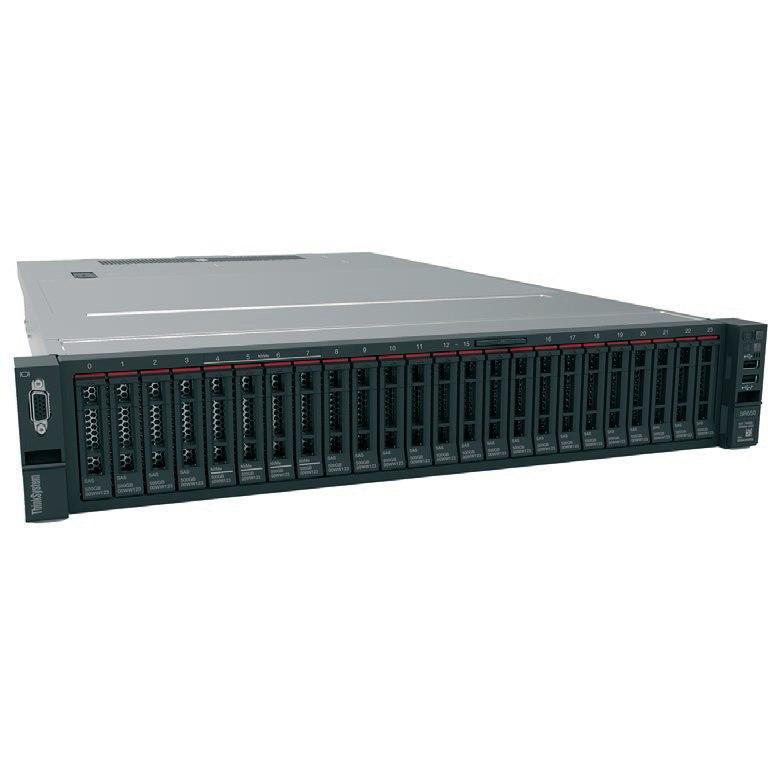 Lenovo ThinkSystem SR650 7X061006AU 2U Rack Server - 1 x Intel Xeon Gold 5118 Dodeca-core (12 Core) 2.30 GHz - 32 GB Installed TruDDR4 - 12Gb/s SAS, Serial ATA/600 Controller - 0, 1, 5, 10, 50, JBOD RAID Levels - 1 x 1.10 kW