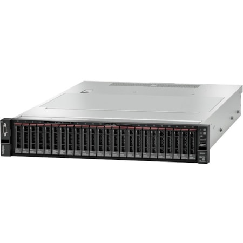 Lenovo ThinkSystem SR650 7X06100BAU 2U Rack Server - 1 x Intel Xeon Silver 4114 Deca-core (10 Core) 2.20 GHz - 16 GB Installed TruDDR4 - 12Gb/s SAS, Serial ATA/600 Controller - 0, 1, 5, 6, 10, 50, 60, JBOD RAID Levels - 1 x 750 W