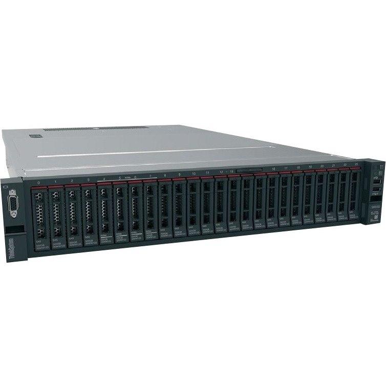 Lenovo ThinkSystem SR650 7X06100CAU 2U Rack Server - 1 x Intel Xeon Silver 4116 Dodeca-core (12 Core) 2.10 GHz - 16 GB Installed TruDDR4 - 12Gb/s SAS, Serial ATA/600 Controller - 0, 1, 5, 6, 10, 50, 60, JBOD RAID Levels - 1 x 1.10 kW