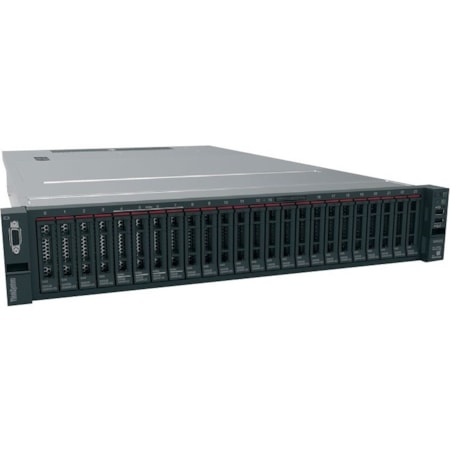 Lenovo ThinkSystem SR650 7X06100DAU 2U Rack Server - 1 x Intel Xeon Gold 5118 Dodeca-core (12 Core) 2.30 GHz - 16 GB Installed TruDDR4 - 12Gb/s SAS, Serial ATA/600 Controller - 0, 1, 5, 6, 10, 50, 60, JBOD RAID Levels - 1 x 1.10 kW