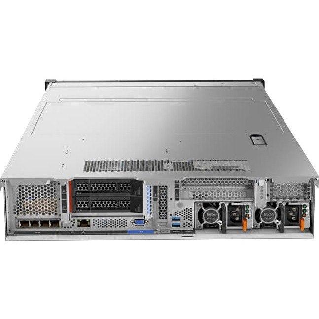 Lenovo ThinkSystem SR650 7X06100FAU 2U Rack Server - 2 x Intel Xeon Silver 4110 Octa-core (8 Core) 2.10 GHz - 64 GB Installed TruDDR4 - 12Gb/s SAS, Serial ATA/600 Controller - 0, 1, 5, 6, 10, 50, 60, JBOD RAID Levels - 2 x 1.10 kW