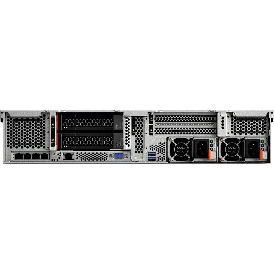 Lenovo ThinkSystem SR650 7X06A063AU 2U Rack Server - 1 x Xeon Gold 5118 - 16 GB RAM HDD SSD - 12Gb/s SAS, Serial ATA/600 Controller