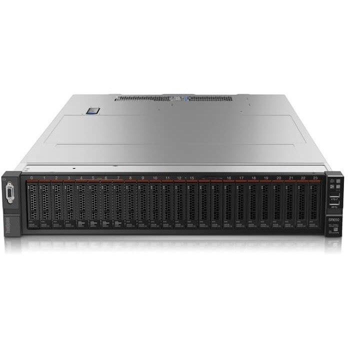 Lenovo ThinkSystem SR650 7X06A08JAU 2U Rack Server - 1 x Intel Xeon Silver 4108 Octa-core (8 Core) 1.80 GHz - 16 GB Installed TruDDR4 - 12Gb/s SAS, Serial ATA/600 Controller - 0, 1, 5, 6, 10, 50, 60, JBOD RAID Levels - 1 x 750 W