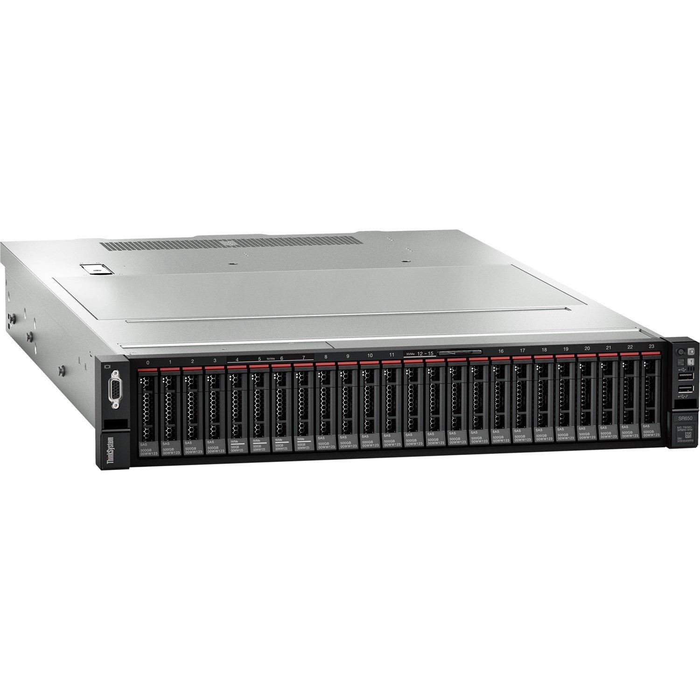 Lenovo ThinkSystem SR650 7X06A0E0AU 2U Rack Server - 1 x Xeon Silver 4210 - 16 GB RAM HDD SSD - 12Gb/s SAS, Serial ATA/600 Controller