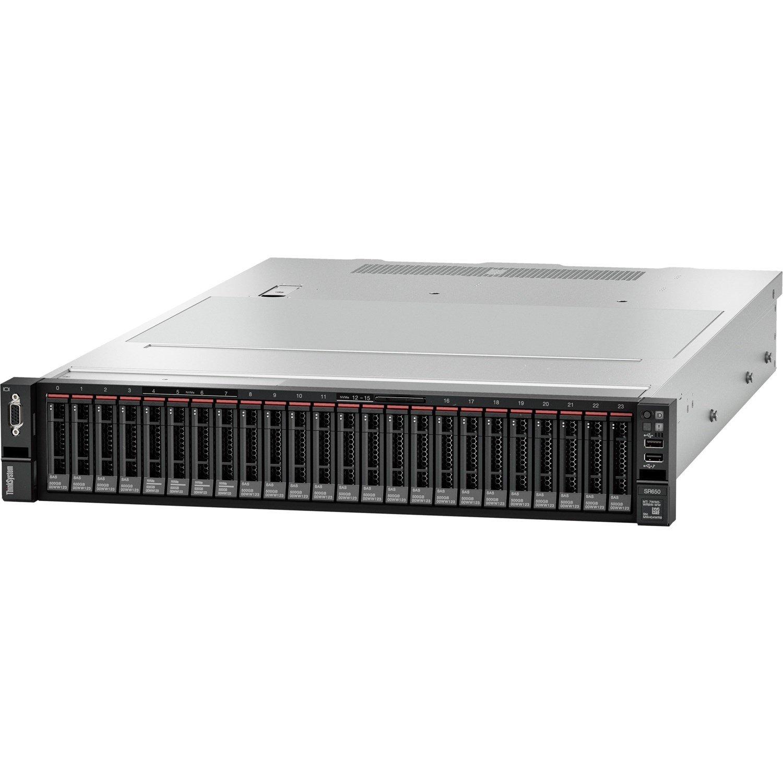 Lenovo ThinkSystem SR650 7X06A0EZAU 2U Rack Server - 1 x Xeon Silver 4208 - 16 GB RAM HDD SSD - 12Gb/s SAS, Serial ATA/600 Controller