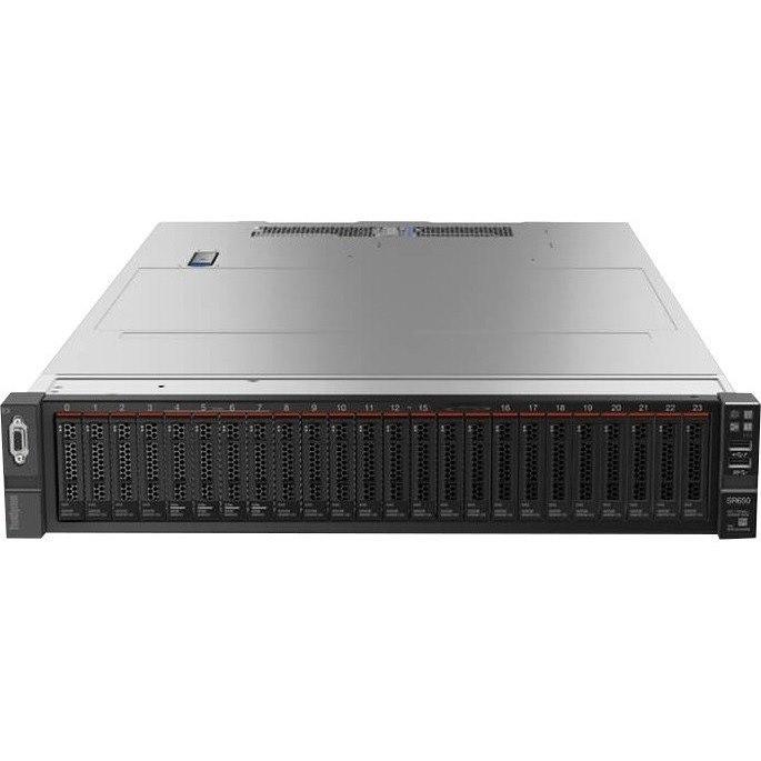 Lenovo ThinkSystem SR650 7X06A0FHNA 2U Rack Server - 1 x Xeon Silver 4208 - 16 GB RAM HDD SSD - Serial ATA/600 Controller