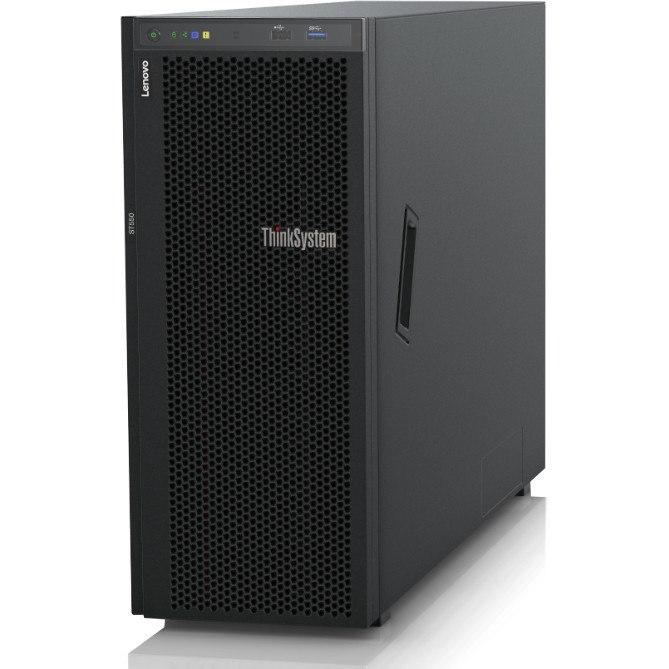 Lenovo ThinkSystem ST550 7X101000AU 4U Tower Server - 1 x Xeon Bronze 3106 - 16 GB RAM HDD SSD - 12Gb/s SAS, Serial ATA/600 Controller