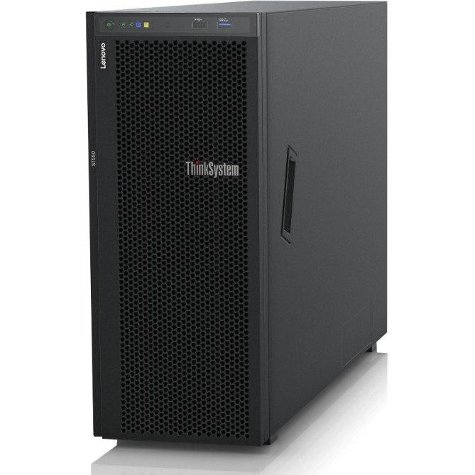 Lenovo ThinkSystem ST550 7X10100GAU 4U Tower Server - 1 x Intel Xeon Silver 4116 Dodeca-core (12 Core) 2.10 GHz - 16 GB Installed TruDDR4 - 12Gb/s SAS, Serial ATA/600 Controller - 0, 1, 5, 10, 50, JBOD RAID Levels - 1 x 1.10 kW
