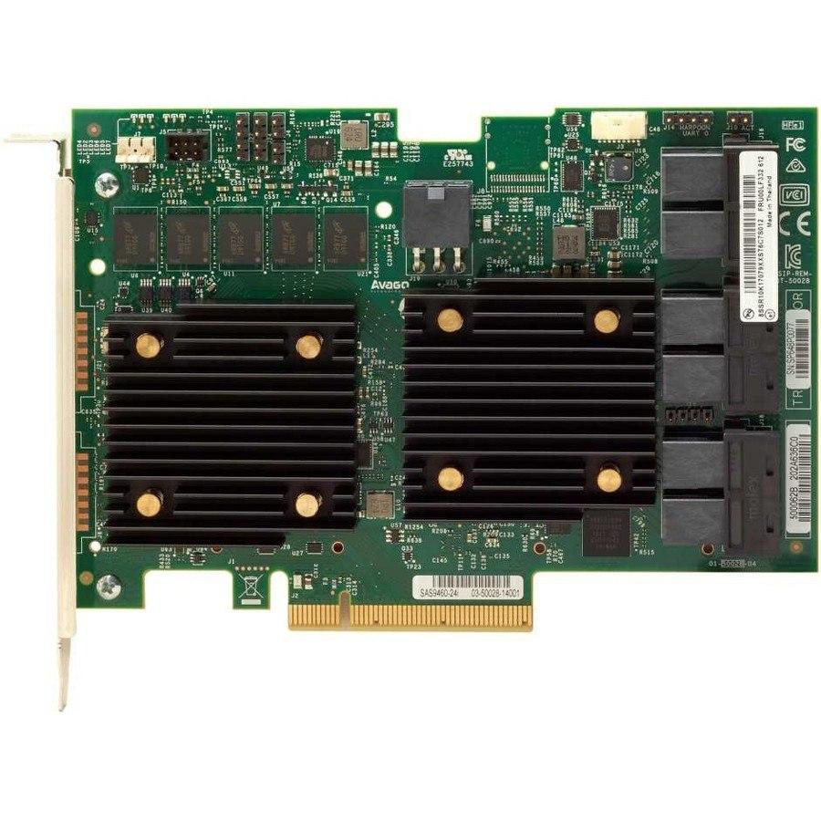 Lenovo 930-24i SAS Controller - 12Gb/s SAS - PCI Express 3.0 x8 - 4 GB Flash Backed Cache - Plug-in Card