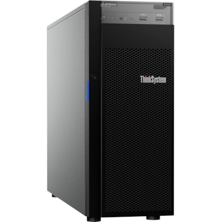 Lenovo ThinkSystem ST250 7Y45A01PAU 4U Tower Server - 1 x Xeon E-2144G - 16 GB RAM HDD SSD - Serial ATA/600 Controller