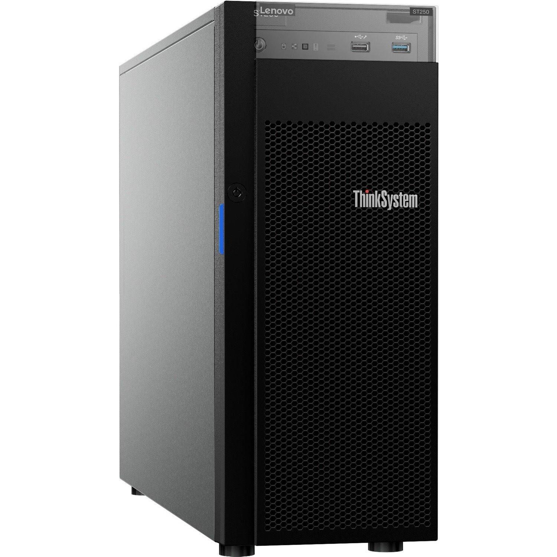 Lenovo ThinkSystem ST250 7Y45A01RAU 4U Tower Server - 1 x Xeon E-2124G - 8 GB RAM HDD SSD - Serial ATA/600 Controller