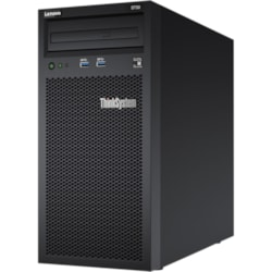 Lenovo ThinkSystem ST50 7Y49A01JAU 4U Tower Server - 1 x Intel Xeon E-2104G 3.20 GHz - 8 GB RAM HDD SSD - Serial ATA/600 Controller