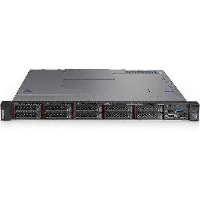 Lenovo ThinkSystem SR250 7Y51A01UAU 1U Rack Server - 1 x Xeon E-2104G - 8 GB RAM HDD SSD - Serial ATA/600 Controller
