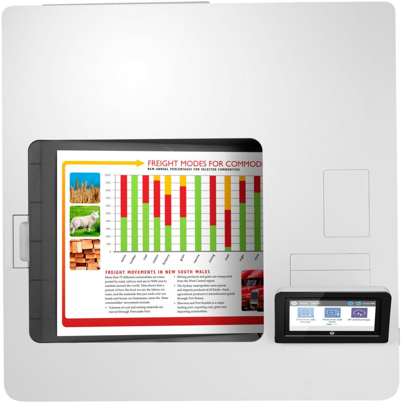 HP LaserJet Enterprise M555 M555x Desktop Laser Printer - Colour