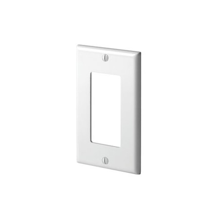 Leviton 80401-00W Faceplate - 1 x Total Number of Socket(s) - White